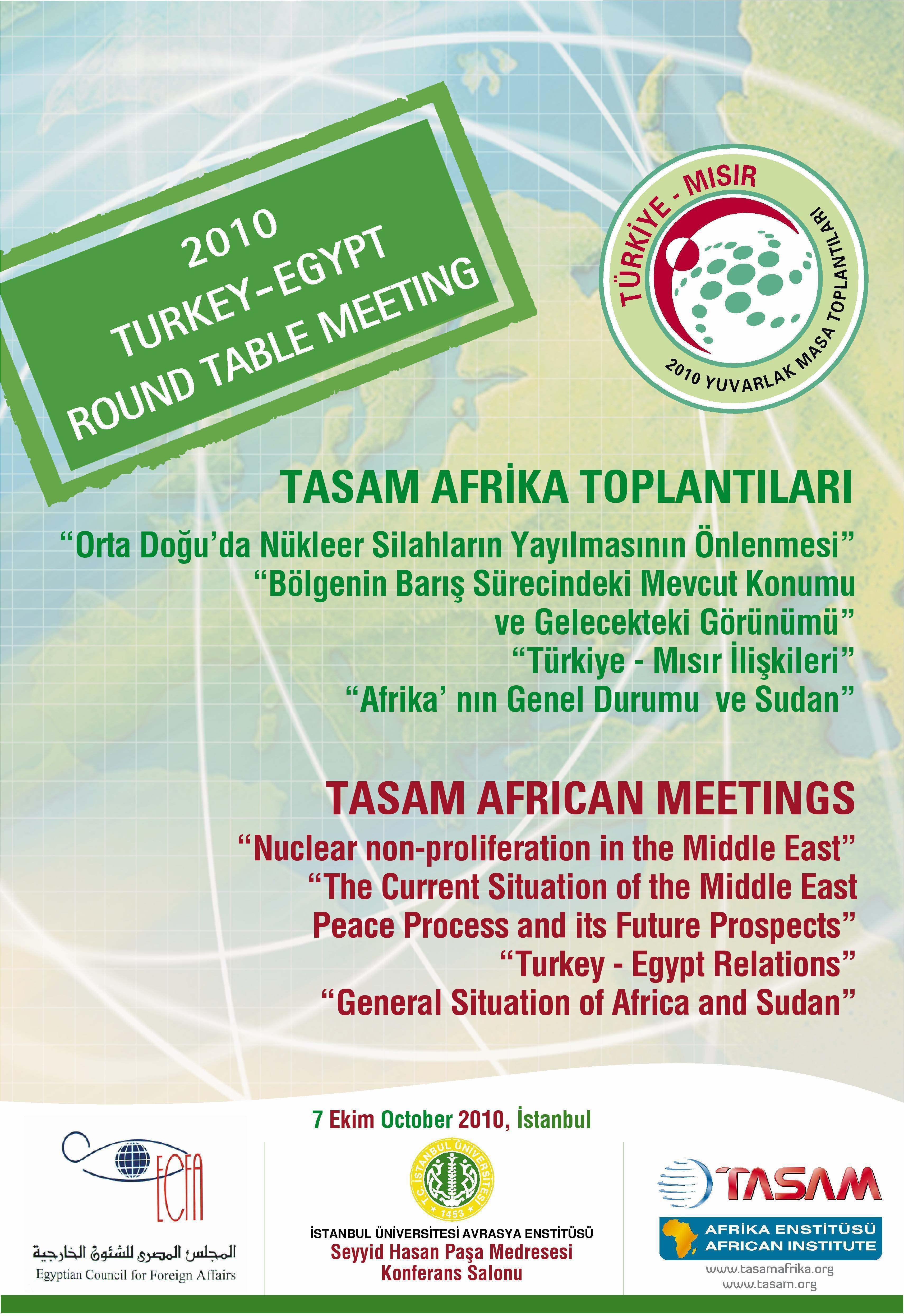 Turkey – Egypt Roundtable Meeting 1