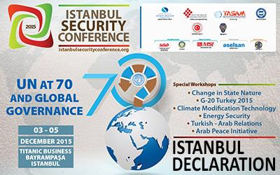 Istanbul Security Conference Istanbul Declaration (DRAFT)