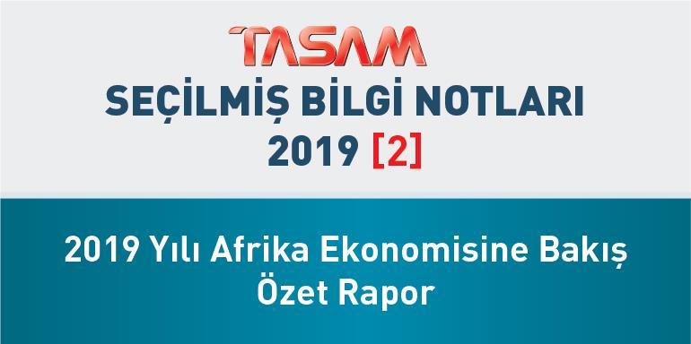 2019 Yılı Afrika Ekonomisine Bakış Özet Rapor