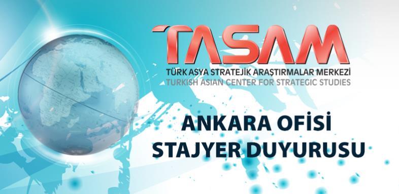 TASAM ANKARA Ofisi için Stajyer Duyurusu