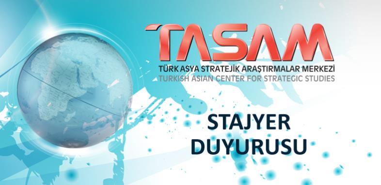TASAM Ofisi için Stajyer Duyurusu