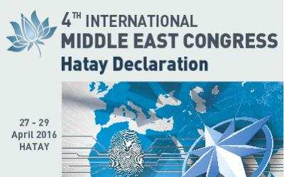 4th Middle East Congress Hatay Declaration is Published